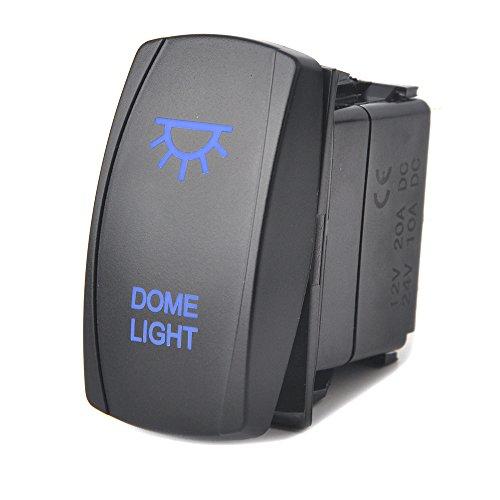 Blue Dome Light Rocker Switch for UTV POLARIS RZR Arctic Cat Wildcat Kawasaki