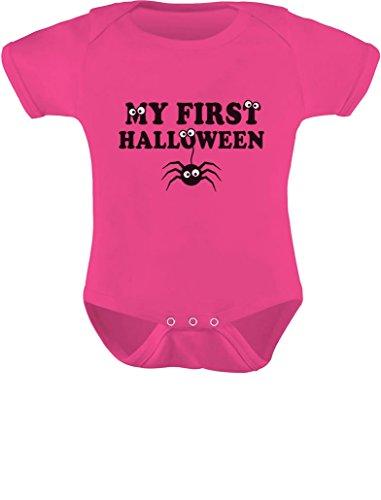 Tstars TeeStars - My First Halloween Baby Boy/Girl Cute Spider Baby Bodysuit Newborn Wow (World Of Warcraft Halloween)