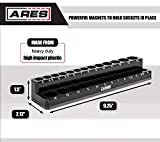 ARES 70233-26-Piece 1/4-Inch Metric Magnetic Socket Organizer - Holds 13 Standard Size and 13 Deep Size Sockets - Keeps Your Tool Box Organized