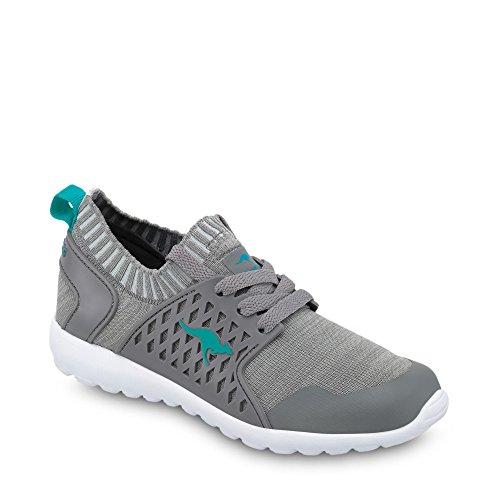 KangaROOS Unisex-Kinder W-481 Kids S Sneaker Grau/Türkis