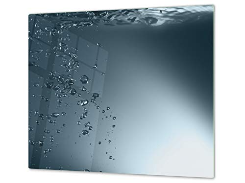 """oktop Cover - Impact & Shatter Resistant Glass; MEASURES: SINGLE: 60 x 52 cm""""; DOUBLE: 2 x 30 x 52 cm; D02 Water Series: Water 1 ()"""