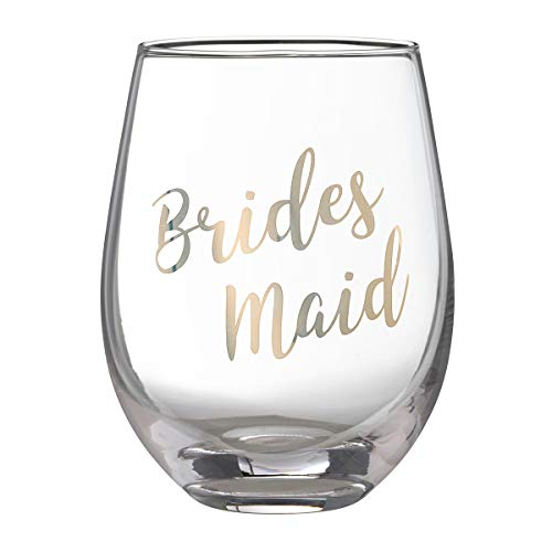 Lillian Rose G115 BM Gold Bridesmaid Stemless Wine Glass, Height 4.75 inches, -