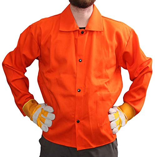 Tillman Welding Jacket Orange Flame Retardant Cotton Fabric, XXL