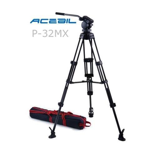 Acebil p-32mxプロフェッショナル三脚システムwith QRビデオパンヘッド、t752アルミニウム三脚、MS - 3 Middleブレース、rf-3足、サポート17.6 LBS。Max高さ65。」   B006BG8K36