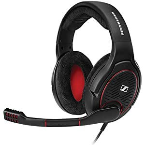Sennheiser Game One Gaming Headset, Open Acoustic, Noise-canceling mic, Flip-To-Mute, XXL plush velvet ear pads, PC, Mac, Xbox One, PS4, Nintendo Switch, and Smartphones – Black