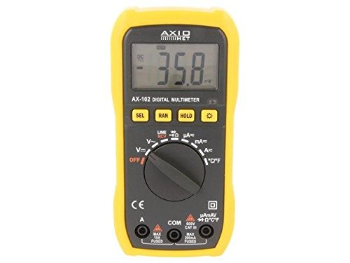 AX-102 Digital multimeter LCD 2000, with a backlit -20÷ 750° C AXIOMET with a backlit -20÷750°C AXIOMET