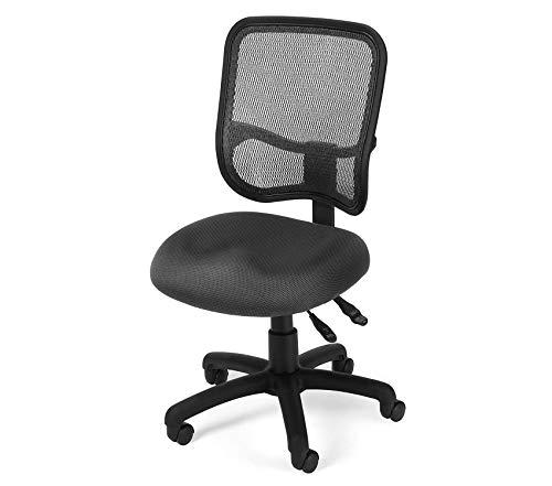 (Оfm Comfort Series Ergonomic Mesh Swivel Armless Task Chair,)