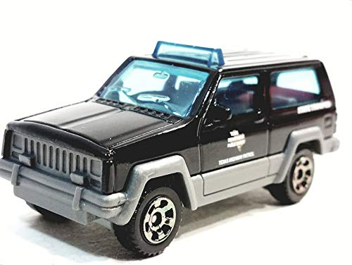 Matchbox Limited Black 2017 Jeep Cherokee Texas State Trooper Police SUV 1/64 S Scale Diecast