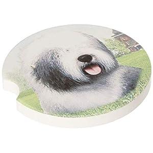 "E&S Pets Old English Sheepdog Coaster, 3"" x 3"" 47"
