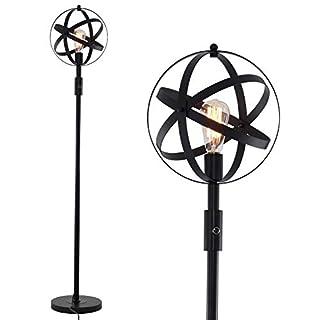 Stepeak Industrial Globe Floor Lamp, Dimmable Stand Task Floor Light Corner Lamp for Sofa, Couch, Living Room,Bedroom
