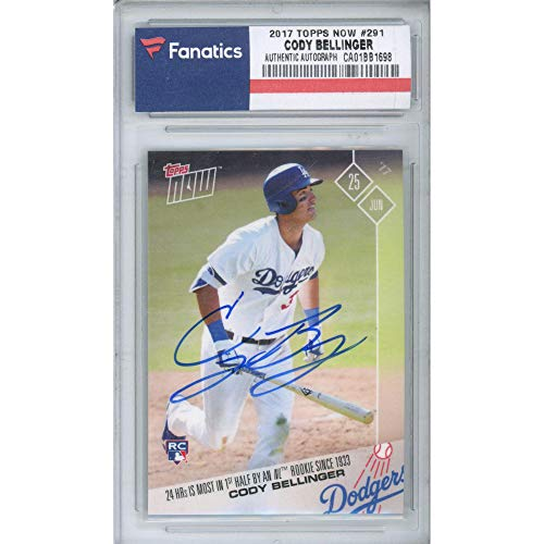 Cody Bellinger Los Angeles Dodgers Autographed 2017 Topps Now #291 Trading Card - Autographed Baseball Cards from Sports Memorabilia