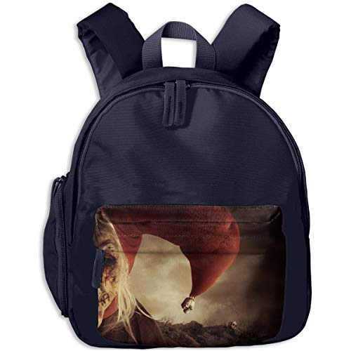 Halloween Half Face Witch Clown Scary Children Backpack Pocket Zipper Outdoor Travel School Book Bag ()