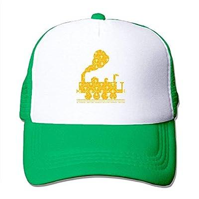 Rbfqfm Unisex Train Cartoon Adjustable Dancing Cap Hat