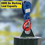 VEVOR 4ton Snatch Block with Hook, 8800 lbs