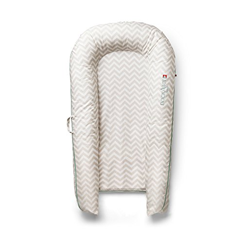 DockATot Grand Dock (Silver Lining) - Perfect for Cuddling, Lounging and Co Sleeping. Lightweight for Easy Travel - Suitable from 9-36 months