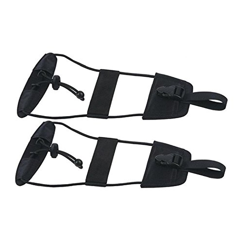 Bag Bungee, IEKA 2Pack Luggage Straps Suitcase Adjustable Belt Travel Accessories, Lightweight and Convenient, Perfect for Trip ( Black ) (Tote Strap With Bag Suitcase)