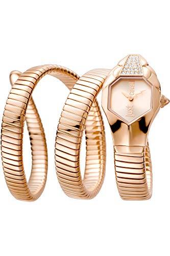 Watch Just Cavalli Women's Glam Chic Watch Quartz Mineral Crystal JC1L022M0035 JC1L022M0035 (Watch Snake)