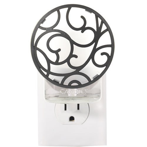(Yankee Candle Black Scroll - Night Light Scent-Plug Air Freshener Base)