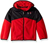 Under Armour Boys' Big Print North Rim Micro Fleece Hoody, red, X-Large (18/20)