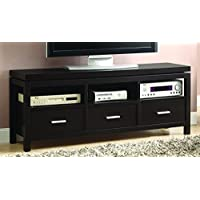 Coaster Home Furnishings Casual TV Console, Red Cocoa