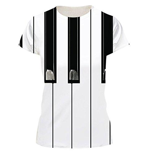 ISSHE Damen T Shirt Oversize T Shirts Rundhals Tops Herren Ausgefallene  Coole Shirts Kurzarm Frauen Sommershirt ... 425acb417b