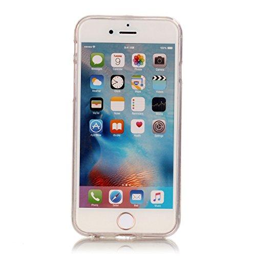 iPhone 6S Etui Coque TPU, E-Lush Anti-rayures Mince Coque pour Apple iPhone 6 (4.7 pouces) Flexible Souple Silicone Coque Couverture Legere Transparente Housse de Protection Absorption des Chocs Case