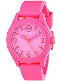 Movado Womens 07101455 ESQ ONE Pink Silicone-Covered Stainless Steel Watch