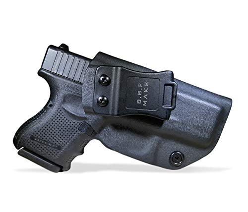 (B.B.F Make IWB KYDEX Holster Fit: Glock 26 27 33 (Gen 1-5) | Retired Navy Owned Company | Inside Waistband | Adjustable Cant | US KYDEX Made (Black, Right Hand Draw (IWB)))