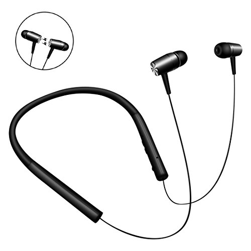 Bluetooth Headphones Wireless Neckband Headset Stereo in-Ear Earbuds with Mic for Running 8 Hours Play Time