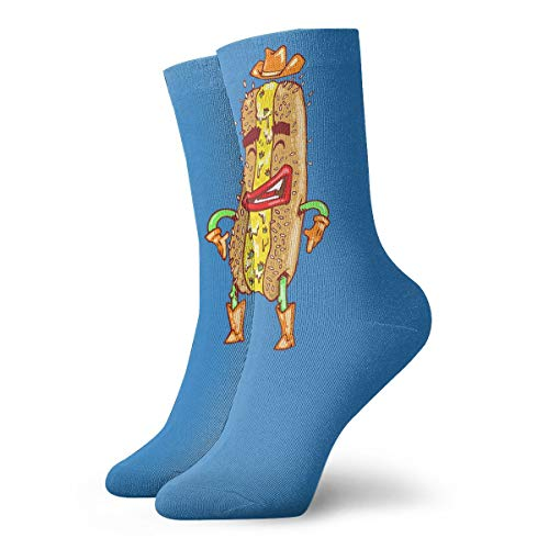 YUANSHAN Socks Hot Dog Cartoon Women & Men Socks Soccer Sock Sport Tube Stockings Length 11.8Inch -