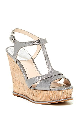Gleam Wedge (Vince Camuto Women's INSLO Wedge Sandal SILVER GLEAM/SILVER,11)