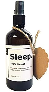 Sleep Spray - Aroma Buddy 100ml | Sleep Deeper & Faster Pillow Spray | 100% Natural Essential Oils | Recycled Glass | Environmentally Friendly | Blended In Australia | Use Aromatherapy & Psychology To Sleep Better | Lavender Spray With Essential Oils