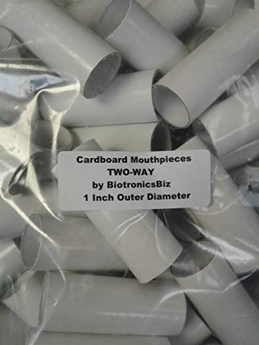 Disposable Cardboard Mouthpieces - Bag of 100 - PLEASE NOTE EXACT SIZE is 1 INCH ROUND outer-diameter by 2.562 inches length. Asthma Spacer Only - Not for Peak Flow Meter Use.