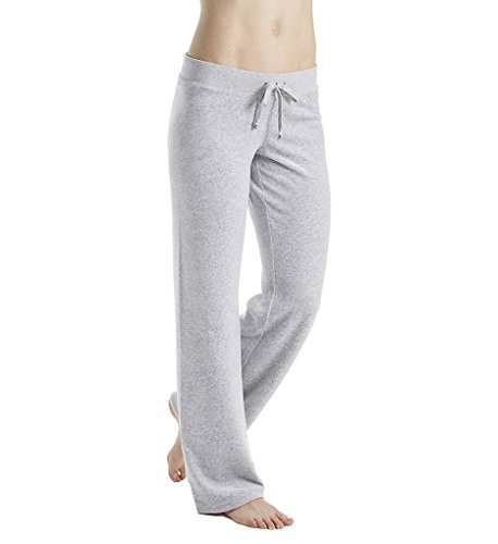 Juicy Couture Black Label Women's Velour Mar Vista Bootcut Pant, Silver Lining, L - Velvet Bootcut Pant