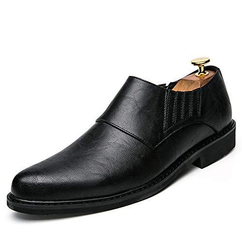 tamaño Slip Zapatos Ofgcfbvxd de Moda Negro Ligero Caminar británicas para Resistentes Hombre al EU Formales para Desgaste Trabajo Marrón Calzado Color y Cómodas Mocasines Casual On 38 de Oxford rw4n4qtx
