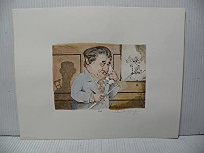 """Art print Charles Bragg artistic Signed Color Lithograph """"TORT"""" limited E."""