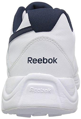 Reebok Menns Ultra V Dmx Max Gang Sko Hvit / Coll. Navy - Wide E