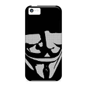 Excellent Design Fawkes Mask Case Cover For Iphone 5c