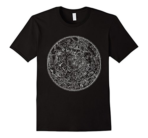 Mens Constellation Vintage North Sky Map Star Chart Space...