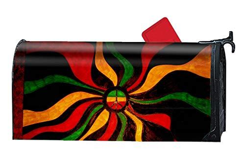 (Michael Trollpoe Rasta Peace Sign Mailbox Covers Garden Decoration - Seasonal Magnetic Cover)