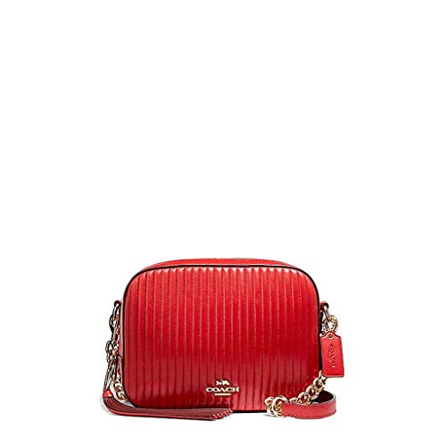 Borsa In Red Pelle Tracolla Coach Leather Fotocamera Rossa A Sx6wfUvd