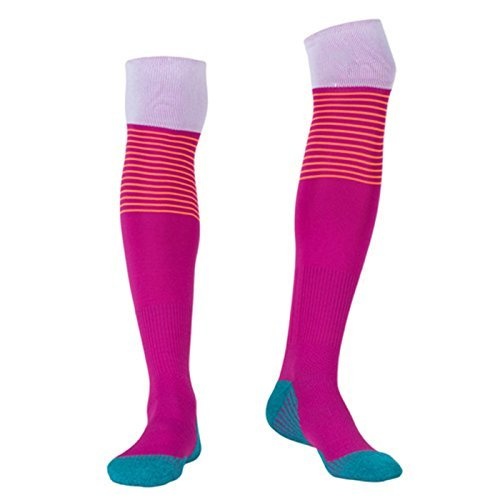 Cross Shoes Nursing Red (Compression Socks for Men Over Knee, BEST Graduated Athletic Fit for Running, Nurses, Flight Travel & Maternity Pregnancy. Boost Stamina, Circulation & Recovery (red, one size fit most))