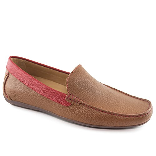 Driver Club USA Mens Genuine Leather Made in Brazil San Diego Venetian Cognac Grainy Loafer 8
