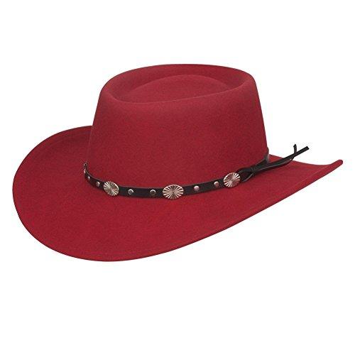 (Silverado Men's Gambler Wool Felt Hat Black Medium)