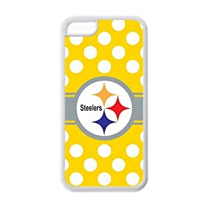 Custom NFL Pittsburgh Steelers Inspired Design TPU Case Back Cover For Iphone 5c iphone5c-NY517
