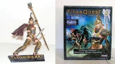 Thq Immortal Throne - 2007 Comic Con Exclusive Titan Quest Immortal Throne Limited Edition Warrior Mage Figurine