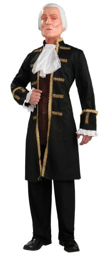 Deluxe George Washington (George Washington Deluxe Adult Mens Costumes)