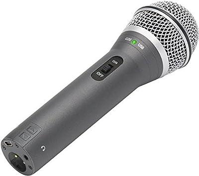 Samson Q2U Handheld Dynamic USB Microphone Recording and Podcasting Pack