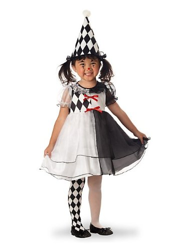 Toddler and Girls Little Harlequin Clown Costume - Child Small ()
