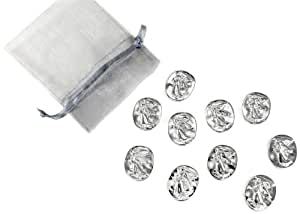 Vilmain Pewter Angel Pocket Tokens, Bag of 10
